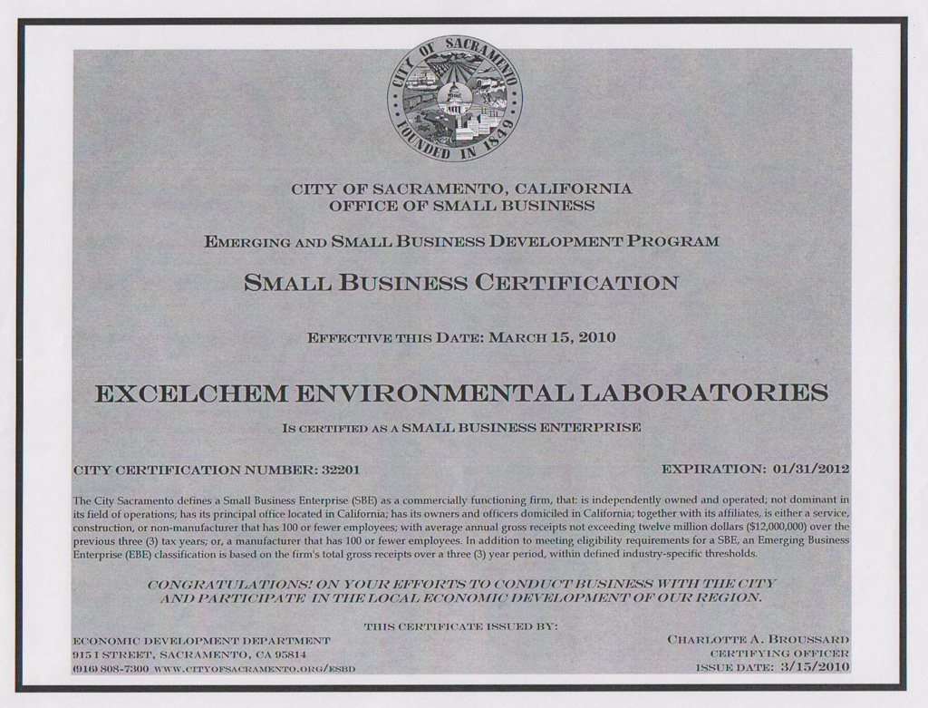 Small Business Small Business Certification